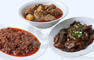 Various Chinese dishes