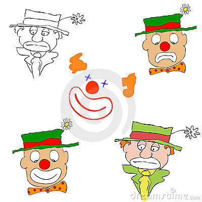 Various clowns - vector