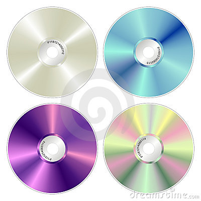 Various color compact discs