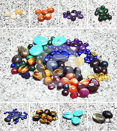Various color stones