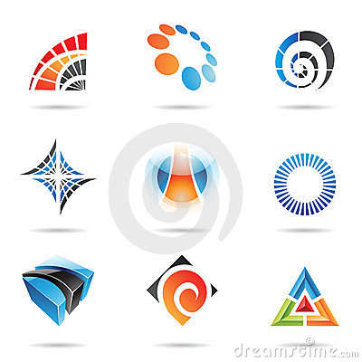 Various colorful abstract icons, Set 5