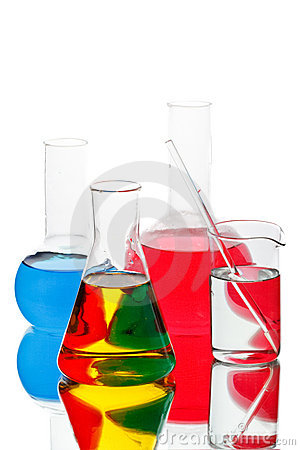Free Various Colorful Flasks Stock Image - 11198701
