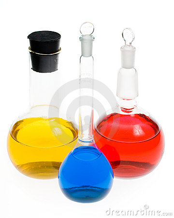 Free Various Colorful Flasks Stock Photos - 5541613