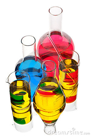 Various Colorful Flasks Royalty Free Stock Photos - Image: 8610988
