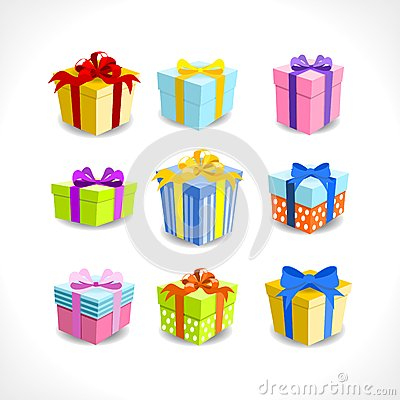 Various colorful gifts