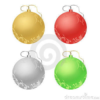 Various colors christmas toys, holiday theme
