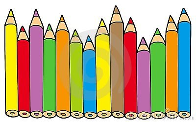 Various colors pencils