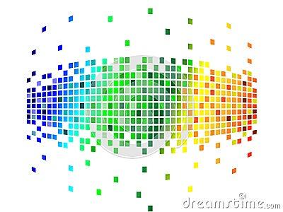 Various colors pixels