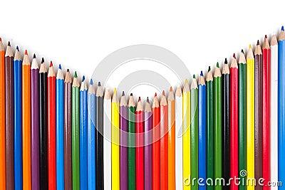 Various colour pencils