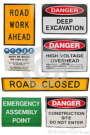Various Construction signs