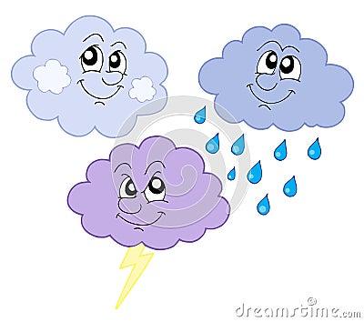 Various cute clouds