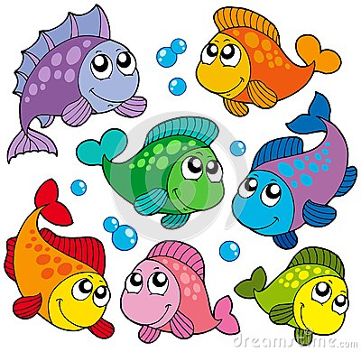 Free Various Cute Fishes Collection 2 Stock Photos - 9990973