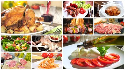 Various delicious food recipes collage stock video video of various delicious food recipes collage stock video video of montage dish 61309469 forumfinder Choice Image