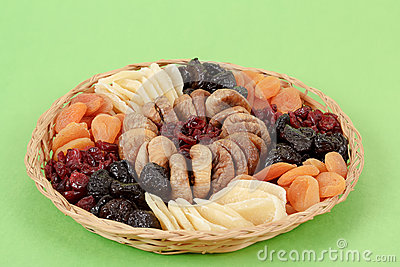 Various dried exotic fruits