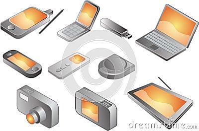 Various electronic gadgets,