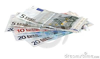 Various euro bills