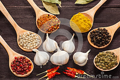 Various exotic spices