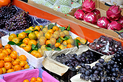 Various fresh fruit for maketing sales