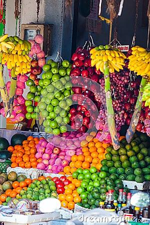 Various fruits at local market