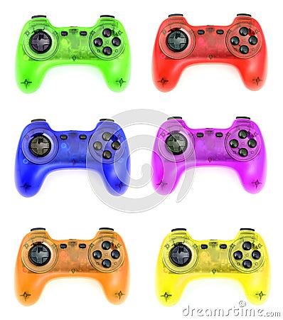 Various gamepads