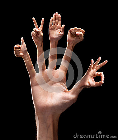 Various hand signs