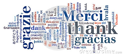 Various international language info-text