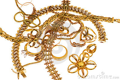 Various jewellery isolated