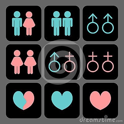 Various kinds of relationships icons