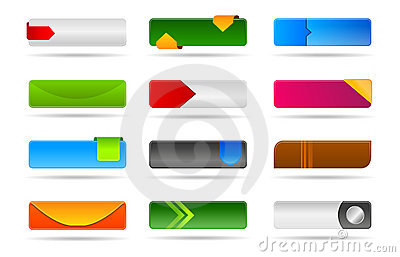 Various modern web button collection