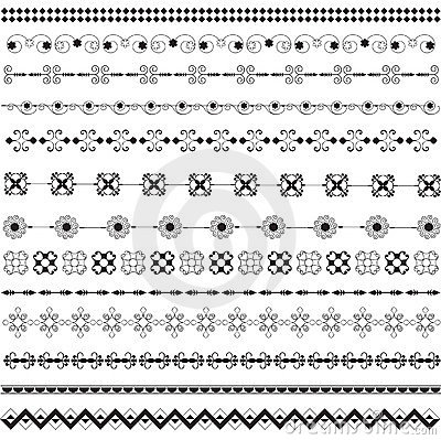 Various motifs in black and white