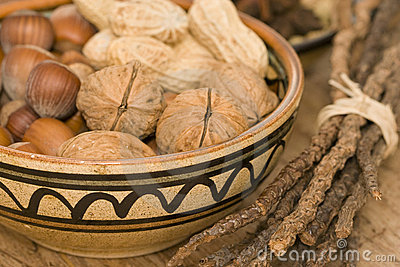 Various nuts in a bowl