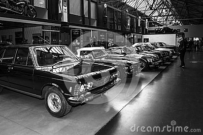 Various oldtimers 60-70s standing in a row Editorial Photography