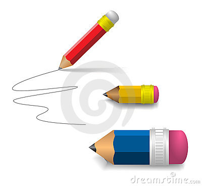 Free Various Pencils On White Paper Stock Photo - 6623710