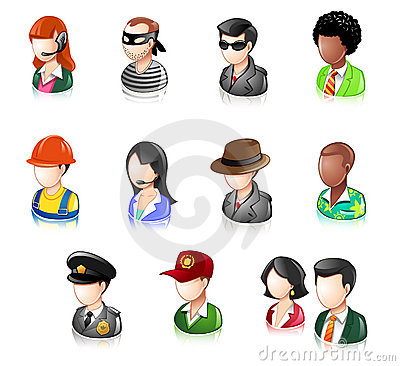 Various People Glossy IconSet