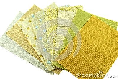 Various samples of fabric choice