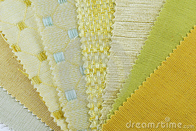 Various samples of fabric choice