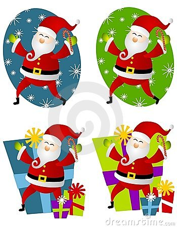 Santa Claus Labels Or Logos Clip Art Stock Image - Image: 3674341