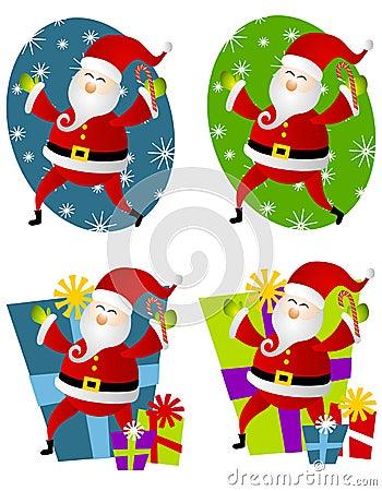 Various Santa Claus Clip Art 2