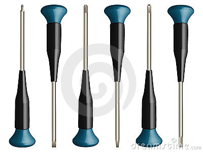 Various screw drivers vector