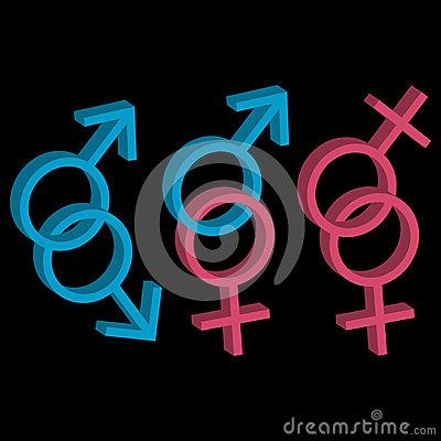 Various sexual orientations icons