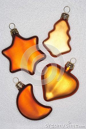Various shaped Christmas tree decoration
