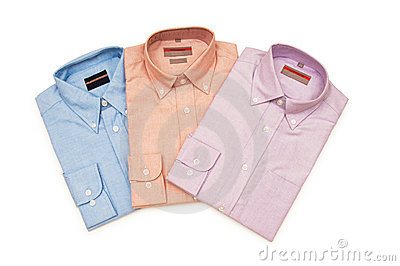 Various shirts isolated