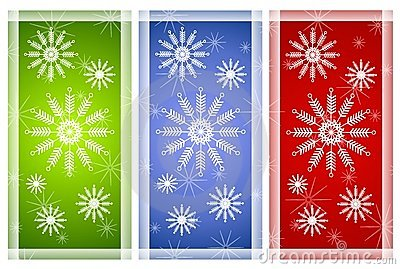 Various Snowflake Backgrounds