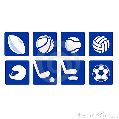 Various sport icons vectored