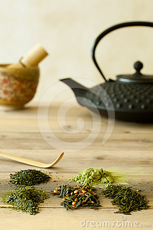 Various tea sorts from Japan