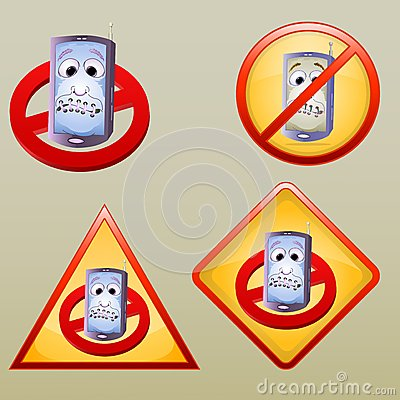 Various turn off hand phone icon/symbol