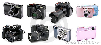 Various types of cameras