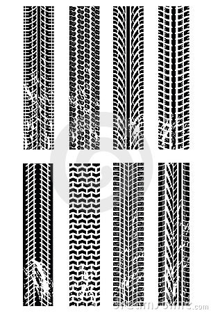 Various tyre tracks
