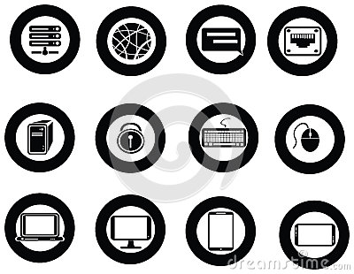 Various universal IT icon and app collection set
