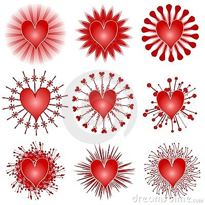 Various Valentine Hearts Clip Art Icons